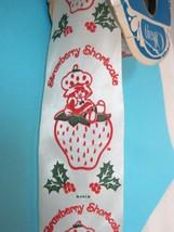Original Strawberry Shortcake Christmas Holly Ribbon 15-20 Yards Mint Bo... - $32.18