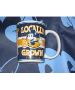 DISNEY PARKS MICKEY MOUSE COFFEE CUP MUG. LOCALLY GROWN. NEW.  - $19.57