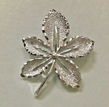 Vintage Signed Sarah Coventry Leaf Vintage Brooch Pin jewelry J0179 - $7.59