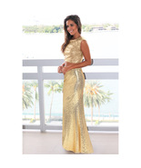 Sequin Mermaid Prom Dress Two Pieces Long Prom Party Gowns Sexy Women G... - $32.44