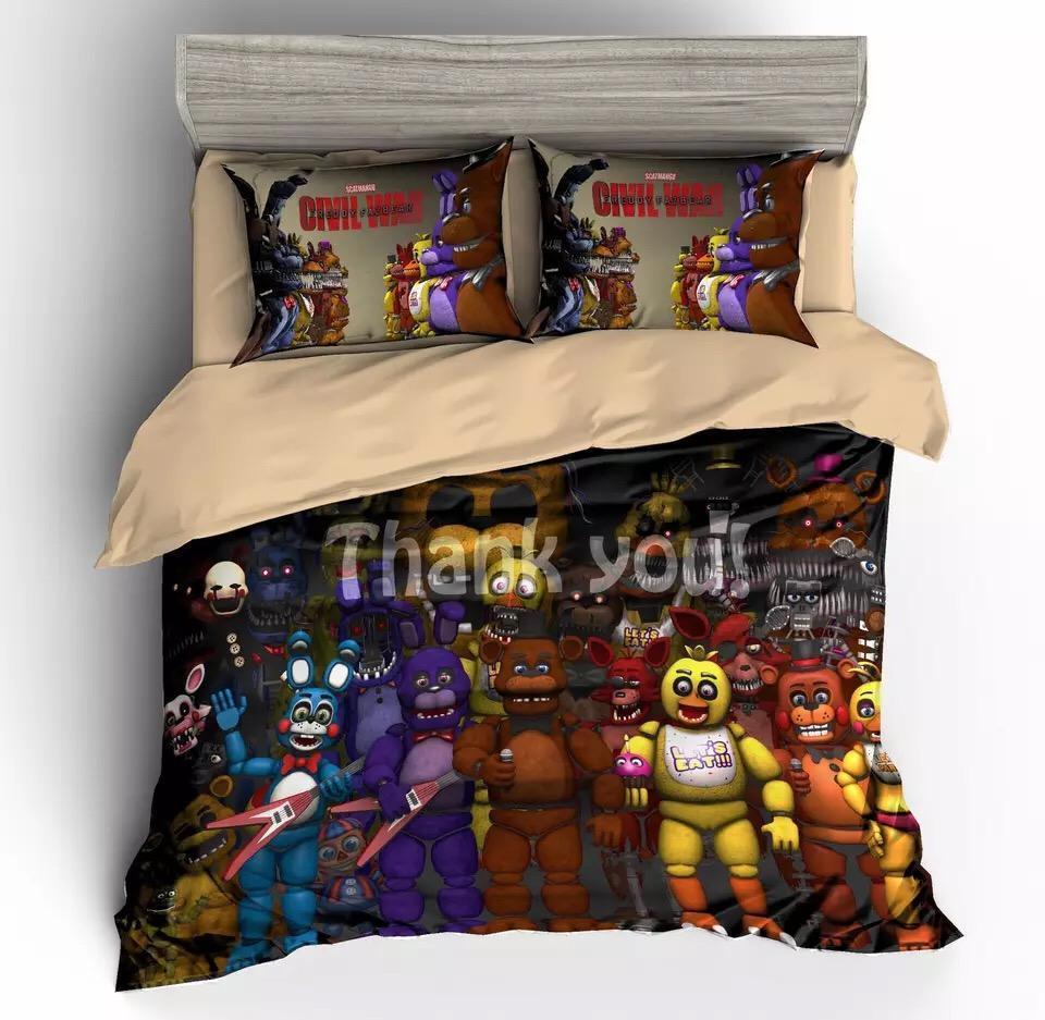 five nights at freddys fnaf duvet cover bedding set