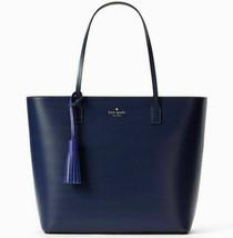 NWT Kate Spade Karla Blue Sapphire Smooth Leather Tote Wright Pl. WKRU4706 $299 - $149.89
