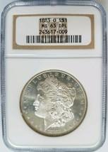 1883 O Silver Morgan Dollar NGC MS 63 DPL Deep Mirrors Proof Like PL DMP... - $314.99