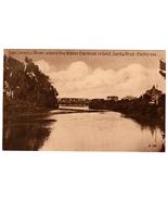 VTG Postcard San Lorenzo River Santa Cruz California Water Carnival Grou... - $13.61
