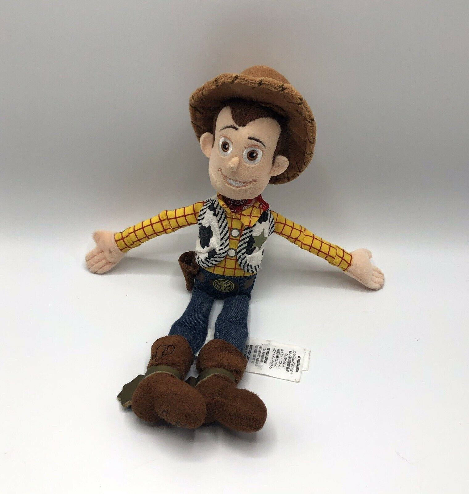 "Primary image for Disney Store Toy Story Woody Plush Doll 13 Inches ""Andy"" Under Foot"