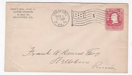 JAMES GEORGE BRADFORD PA MARCH 6 1905 FLAG CANCEL  - $1.98