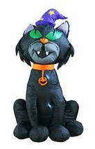 4Ft Inflatable Halloween Black Cat Decoration Inflatables for Home Yard ... - ₨2,830.64 INR