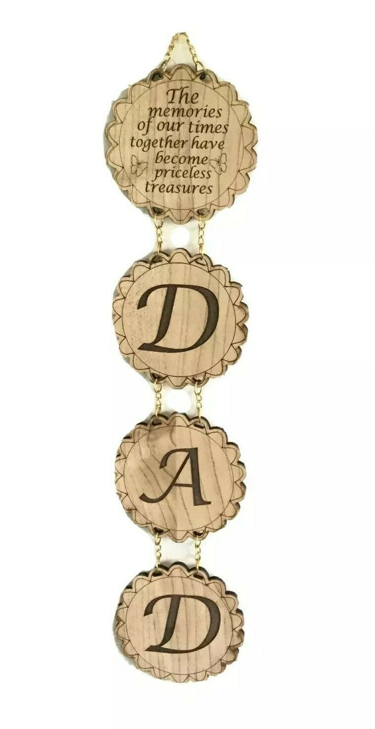 DAD Wall Hanging Wood Plaque Jerusalem Father's Day Gift Regalo Día los PADRES - $12.00