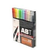 Tombow ABT Dual Brush Pens (Brush Tip + 0.8mm Fine Tip) 24-Color Basic S... - $63.99