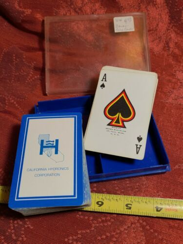 California Hydronics Corporation Playing Cards Brown & Bigelow St. Paul Minn.