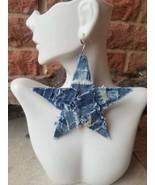 Patchwork Star Earrings - $13.50