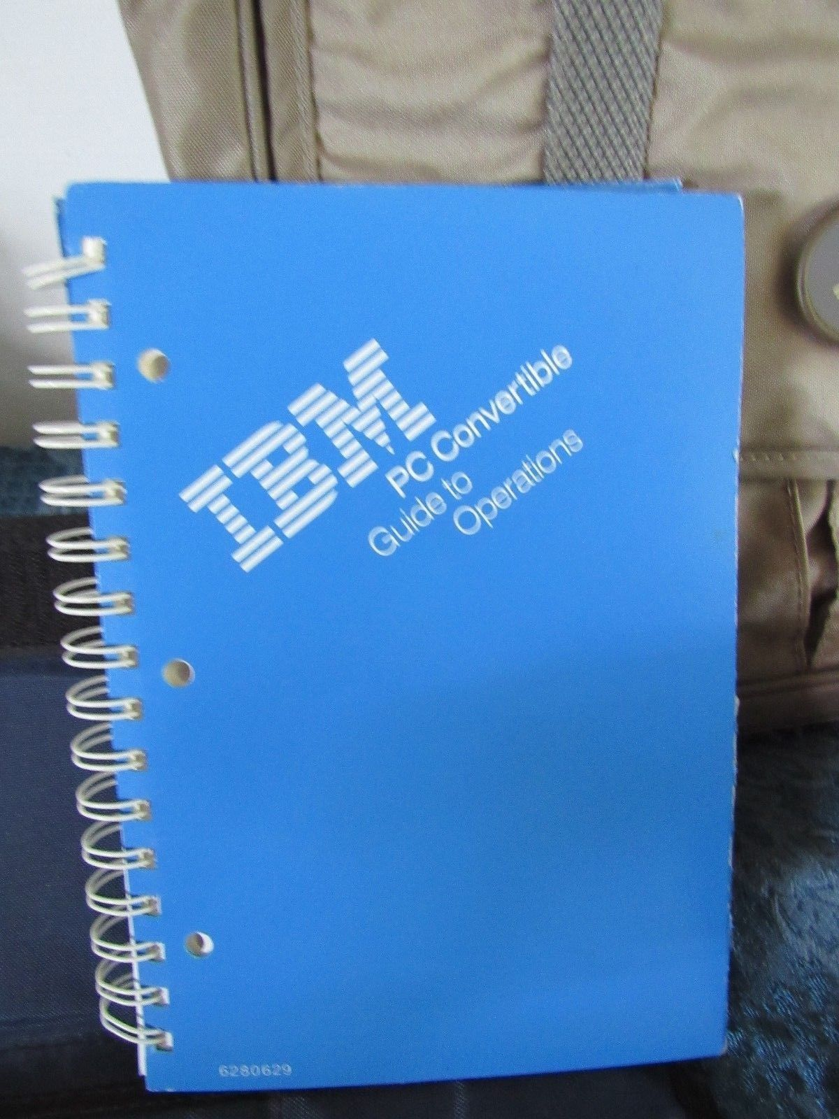 Vtg IBM Laptop PC Convertible Power Supply Carrying Case Disks Powers on
