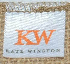 Kate Winston Brand Brown Burlap Monogram Black And White C Garden Flag image 4