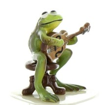 Hagen Renaker Miniature Frog Froggy Mountain Breakdown Mandolin Ceramic Figurine