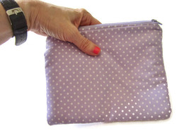 Zipper Pouch, Cosmetic Bag, Purple Change Purse, Essentials Bag, Clutch - $181,93 MXN