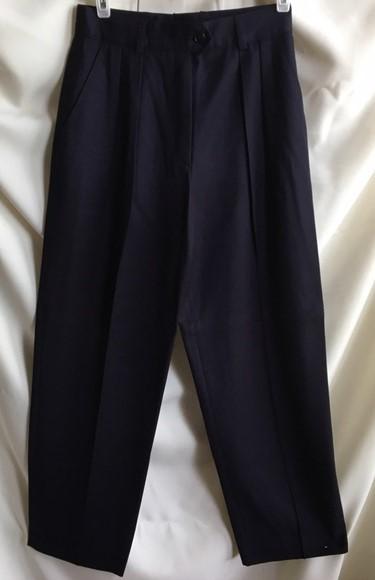 Escada dark blue dress career pants 4