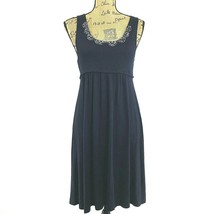 Ann Taylor LOFT Dress XS True Navy Blue Scoop Open Back Tie Embellish Be... - $14.95