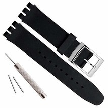 17mm Replacement Waterproof Silicone Rubber Watch Strap Watch Band Black - $9.28