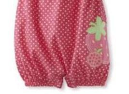 Baby Togs Baby Girls Infant Pink Strawberry Romper