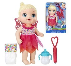 Hasbro Baby Alive Face Paint Doll Fairy Interactive Bottle & Diaper Blon... - $24.99