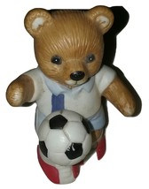 Homco Soccer Bears #1-14611-98 Mini  Porcelain Figurine - $10.99