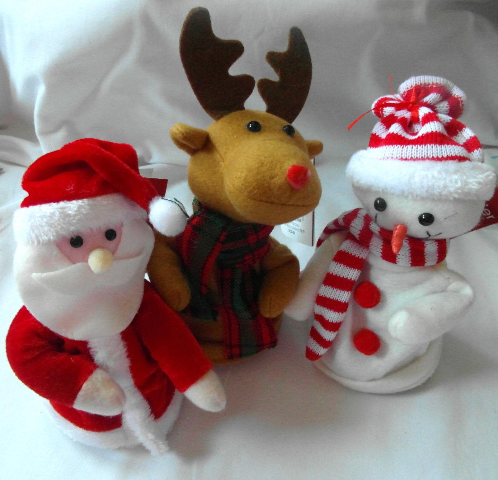 ec83881f72043 Singing Dancing 18cm Santa Claus Snowman Reindeer Christmas Decoration  Figure