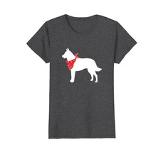 Belgian Malinois Wearing Red Bandana Dog Silhouette T-Shirt - $19.99+