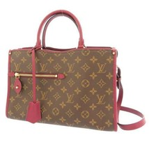 LOUIS VUITTON Popincourt PM Monogram Canvas Rasin M43462 Handbag 2Way Au... - $2,196.85