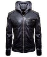 Batman Gotham Jacket Motorcycle Brando Biker Leather Bomber Detach Hoodi... - $57.29+
