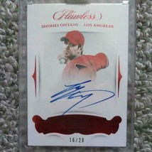 MLB card Shohei Otani panini flawless rookie 20 limited edition autograp... - $510.84