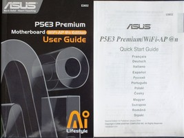ASUS P5E3 PREMIUM MOTHERBOARD USER MANUAL. VGC... - $7.65