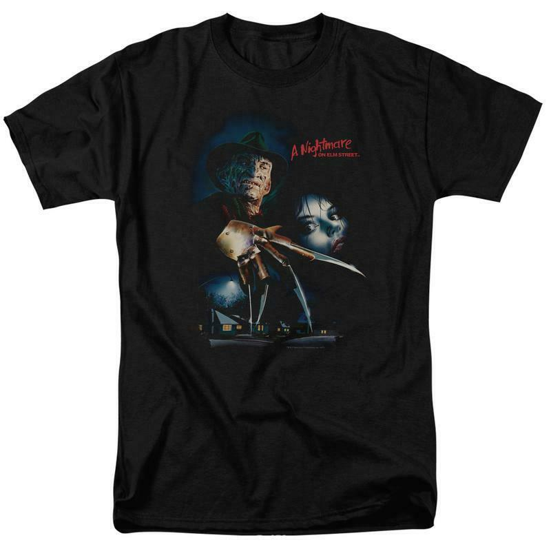 Nightmare on elm street tshirt freddy krueger retro 80 s horror movie wbm618