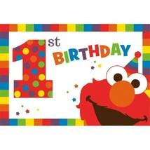 Elmo Turns One 8 Postcard Invitations 1st Birthday Party Sesame Street - $5.69