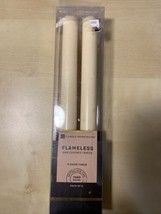 "Sterno Home Candle Impressions Tapers Flameless Candles,9"", 2-Pack,Cream, - $26.90"