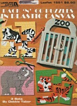 "Leisure Arts ""Pack 'N' Go Puzzles In Boutique Plastic Canvas"" Gently Used - $7.50"