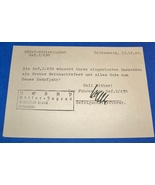 ORIGINAL WW2 HITLER YOUTH UNIT COMMANDER STAMPED & SIGNED CARD FROM 1940 - $25.00