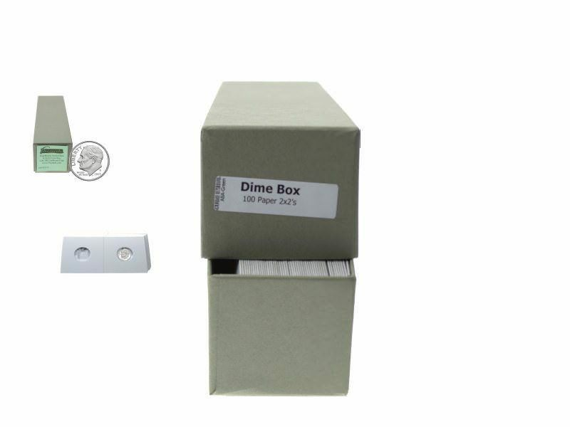 """Guardhouse Green/Dime Coin Storage Box with 100 flips, 2"""" x 2"""" x 8.5"""""""