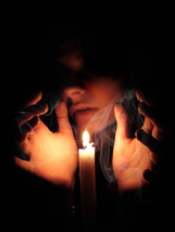 Free spirit bonding candle from bythepowerof3 free with HAUNTED purchase  - $0.00