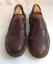 JOHNSTON & MURPHY Marlin Brown Leather Fisherman Slip On Sandal Shoes 9 M - $43.95 CAD