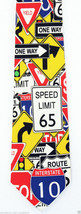 Street Signs Men's Necktie Road Speed Limit Yield One Way Stop Sign Neck... - $15.79