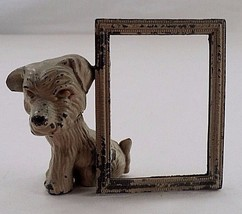 1940s Spelter Metal Scotty Dog Scottish Terrier Puppy Sweetheart Picture... - $17.77