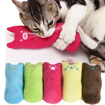 Pillow Scratch Crazy Cat Kicker Kitty Catnip Toy Teeth Grinding Toys - $5.70