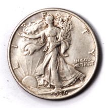 1936 50c Walking Liberty Silver Half Dollar Philadelphia - $19.79