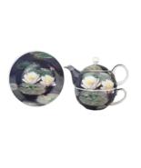 "NIB! McIntosh Fine Bone China ""Water Lilies"" By Monet Tea For One Pot Sa... - $27.65"
