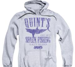 Jaws Movie Retro 70's Quints Shark Fishing Amity Island distressed hoodie UNI413 image 2