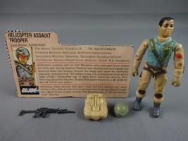 Vintage GI JOE Action Figure 1983 Airborne Trooper 100% w Peach File Card - $17.72