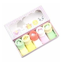 Light Colors Series Lacy Baby Socks Gift Box for Newborn Baby