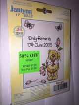 Janlynn Baby Announcement A Rose For You Counted Cross Stitch - $3.75