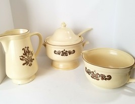Pfaltzgraff Village Vintage Soup Tureen,Batter Bowl,Pitcher Old Castle Mark USA - $44.49