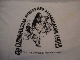 Vintage Cardiovascular Fitness Rehabilitation Center paper thin T Shirt Size M - $15.83